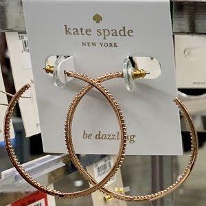 kate spade♠️NY save the date CZ largehoop earrings